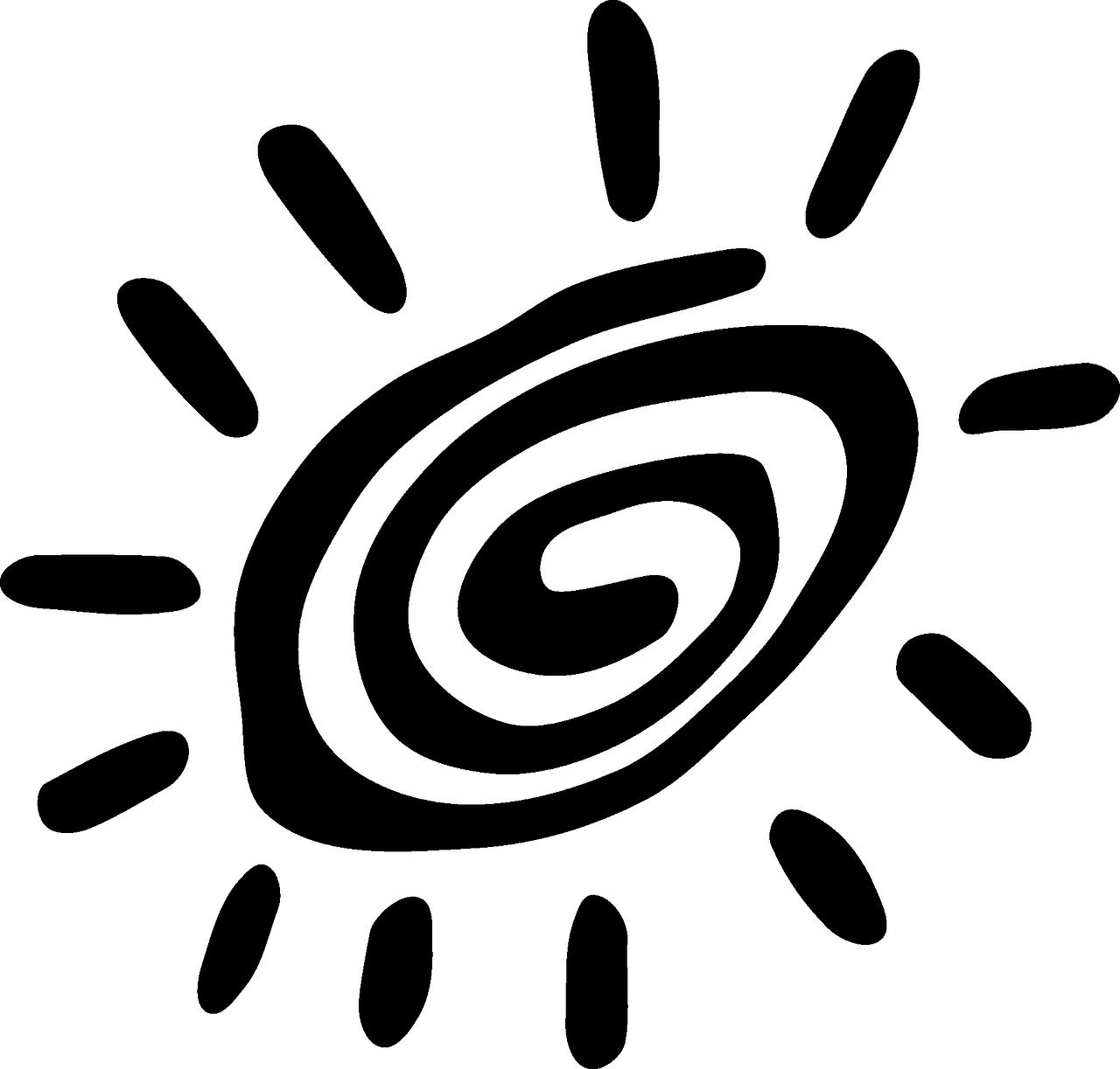 Sun tribal. Vacation petroglyph primitive spiral