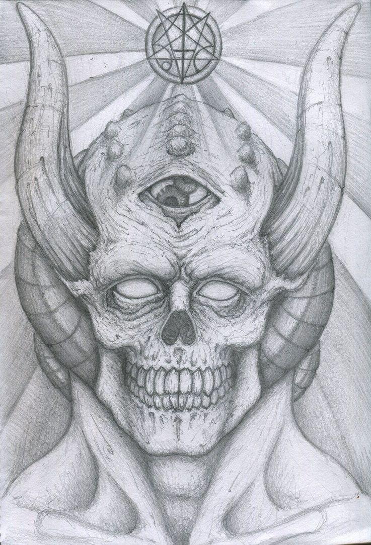 Realistic Devil Drawing : realistic, devil, drawing, Demon, Sketch, Drawings,, Creepy, Gothic, Drawings