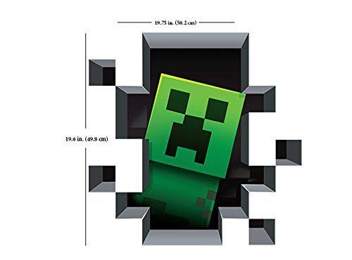 Minecraft Creeper Inside Wandtattoo Frischhaltefolie: Amazon ...