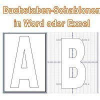 gro e buchstaben f r plakate in word oder excel erstellen basteln pinterest gro e. Black Bedroom Furniture Sets. Home Design Ideas