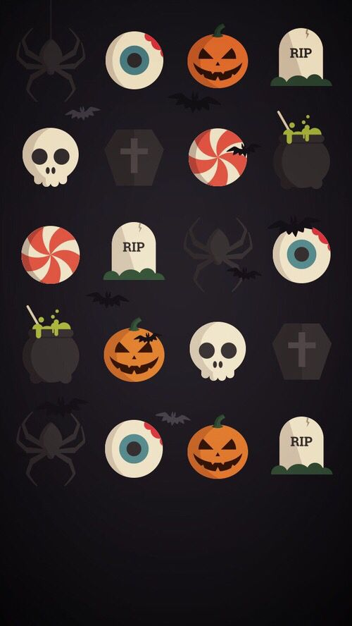 Happy Halloween Pumpkins Skeletons Eyes Ghosts Spiders And Candy Halloween Wallpaper Christmas Wallpaper Backgrounds Holiday Wallpaper