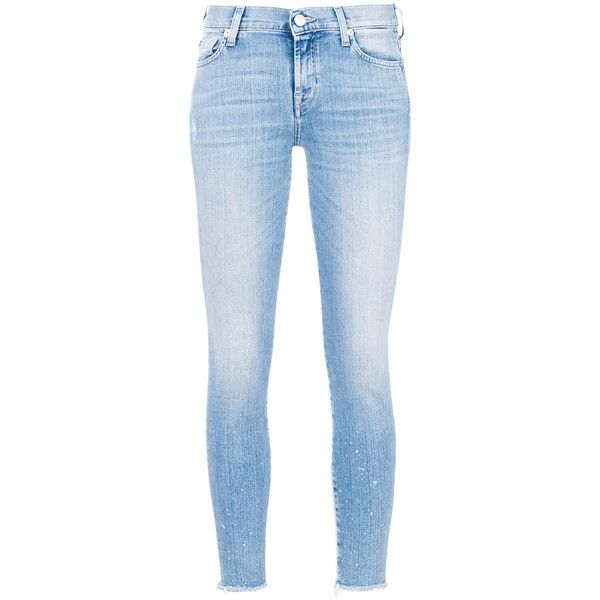 7 For All Mankind Woman Pyper Cropped Mid-rise Skinny Jeans Light Denim Size 32 7 For All Mankind Online Cheap Choice Sale Online Free Shipping Manchester nKJ8Mg