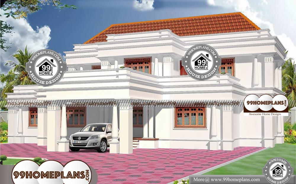 Modern 2 Storey House Design with Impressive Home Plan ...