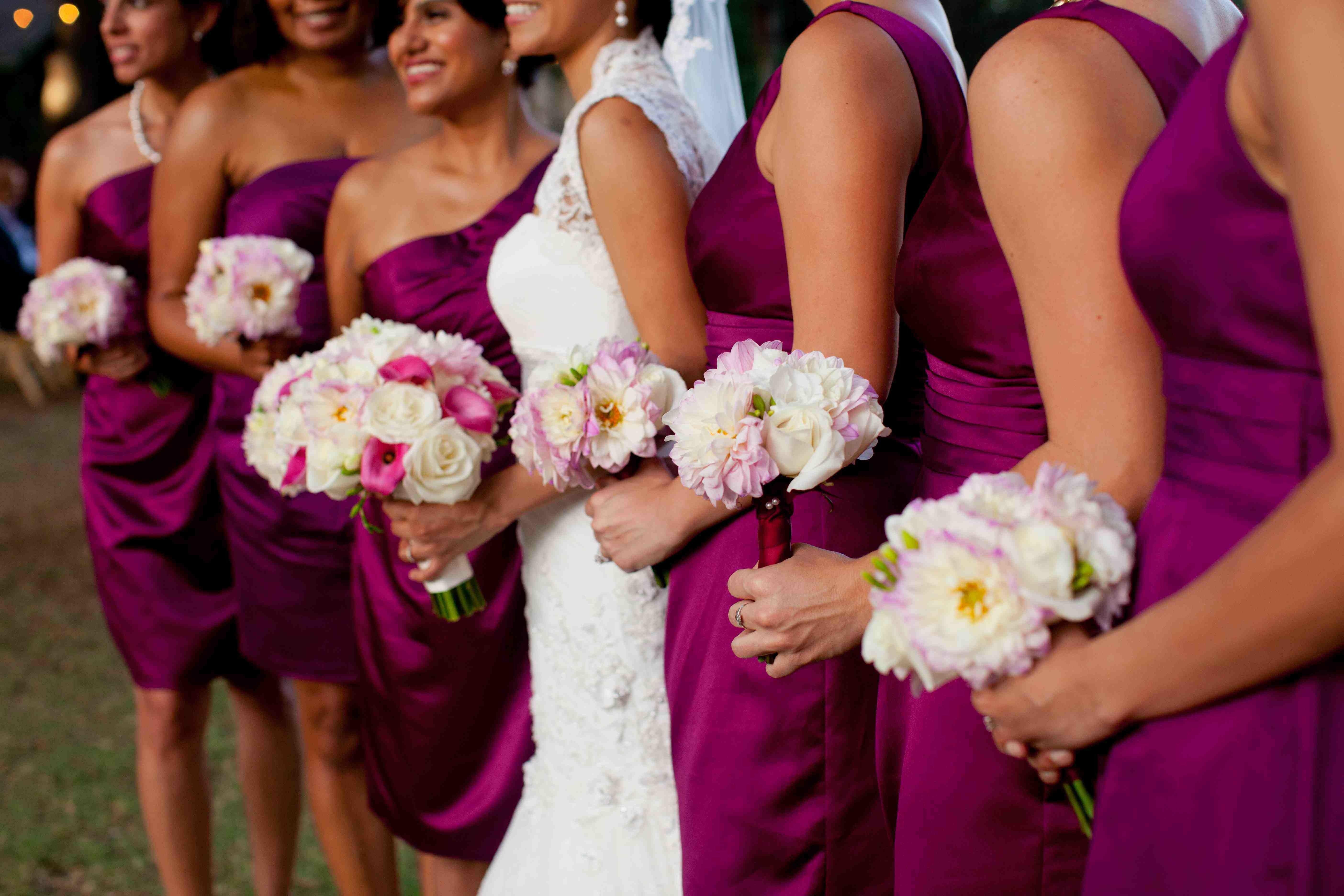 8defbc356e3 Bridesmaids Sangria dresses from David s Bridal online. sangria is a nice  color!