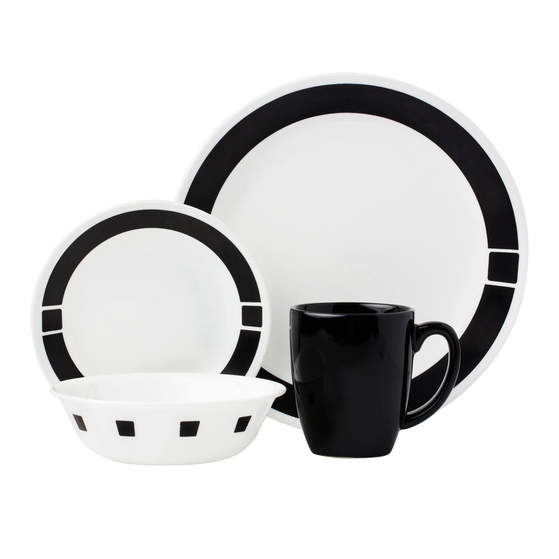Corelle® Livingware™ Urban Black 16-pc Dinnerware Set   Table ...