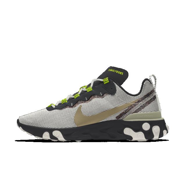 Nike React Element 55 Premium By You Custom Men S Shoe Shoes Nike Custom Shoes