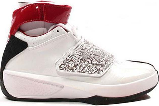 bbaeb9b567d638 Air Jordan 20 Retro Original (OG)-White Varsity Red-Black Shoes came from  custom trumpets