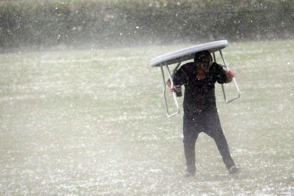 A huge storm hits Flemington racecourse Flemington