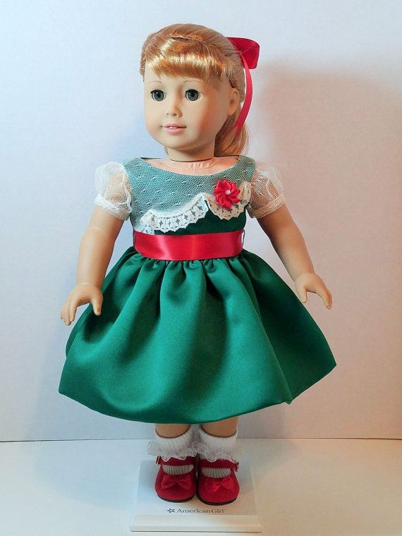 """SPECIAL ORDER - Two 1950s Christmas Dresses for 18"""" Dolls Inspired by Vintage…"""