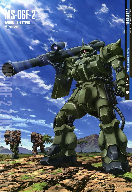 The Ms 06f2 Zaku Ii F2 Type Also Zaku Ii Late Production Model Is A Mass Produced General Purpose Multi Class Mob Gundam Wallpapers Gundam Gundam Mobile Suit