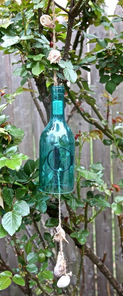 Coastal Bottle and Shell Wind Chime by Gypseanurse on Etsy, $15.00