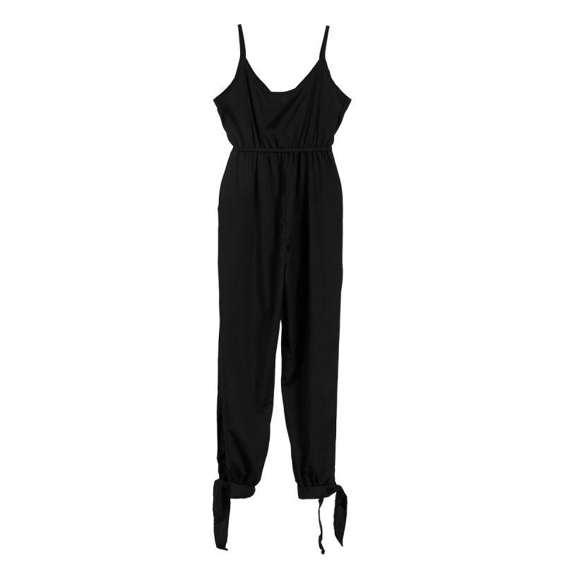 2019 Summer Women Casual Sleeveless V-Neck Jumpsuits #winterwomensfashion