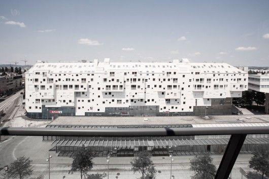 Doninpark: Edificio residencial, de oficinas y retail, en Viena