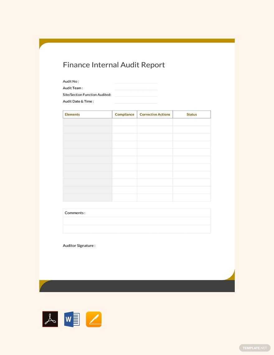 Create A High Quality Report Document For A Company S Financial
