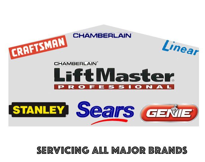 Servicing All Major Brands Liftmaster Garage Door Opener Garage Doors