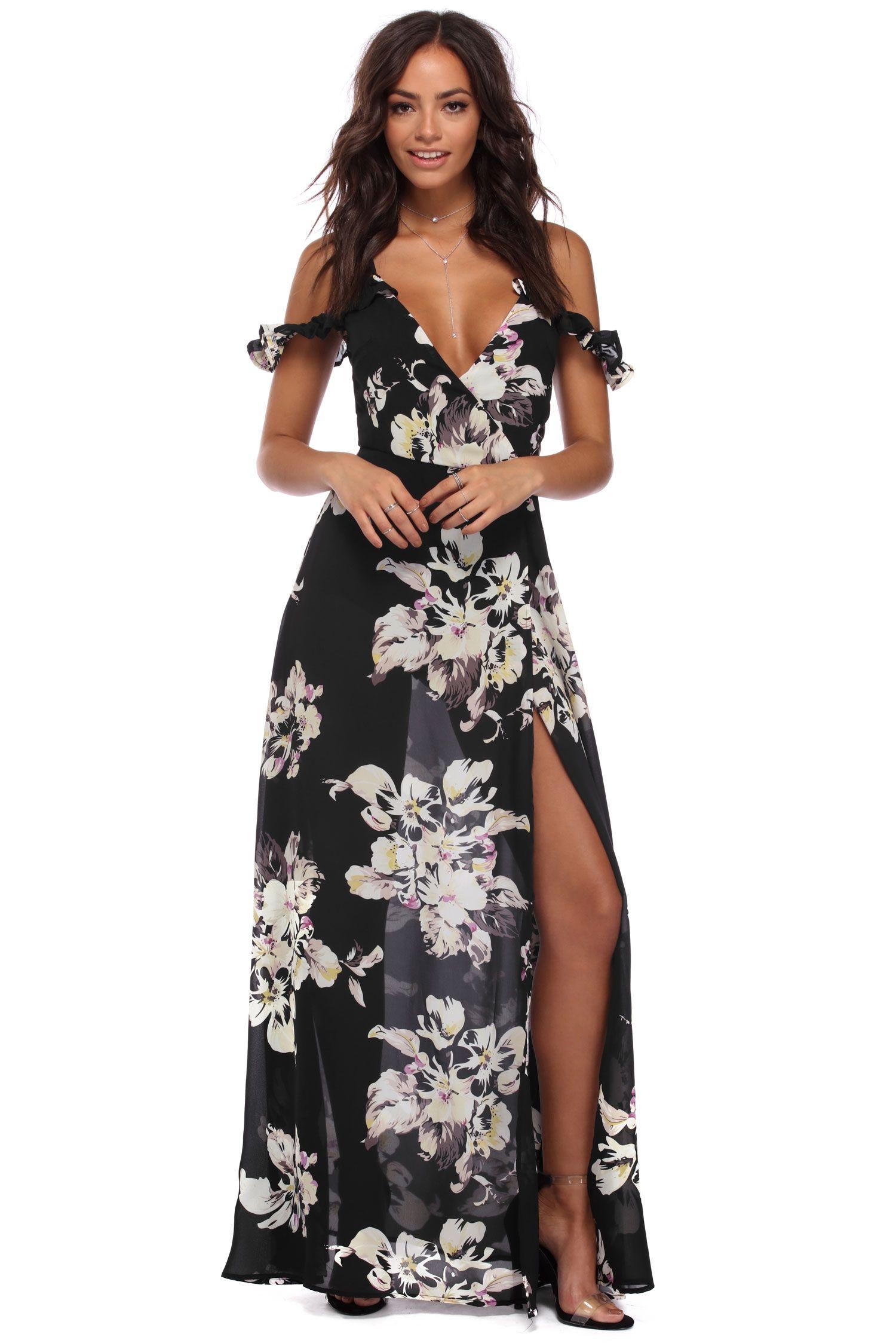 73b613093846 Black Floral Bliss Maxi Dress | windsor | Casual | Dresses, Windsor ...