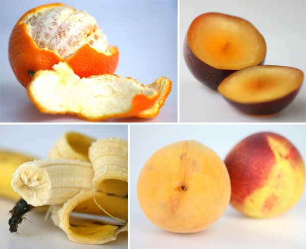 Keep away from each other to prolong life or keep in a papr bag together to speed up ripening.  Releasing ethylene: nectarines, pears, apples, tomatoes, kiwis, papayas & bananas  Sensitive to ethylene: carrots, apples, watermelon, green beans & brinjals