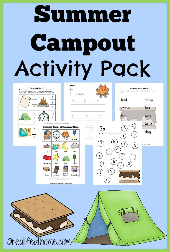 Summer Camp Out Printables And Activities Camping Theme Preschool Camping Classroom Camping Preschool Camping themed worksheets