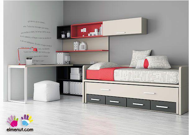 Habitaci n infantil dormitorio infantil con cama nido - Habitacion infantil cama nido ...