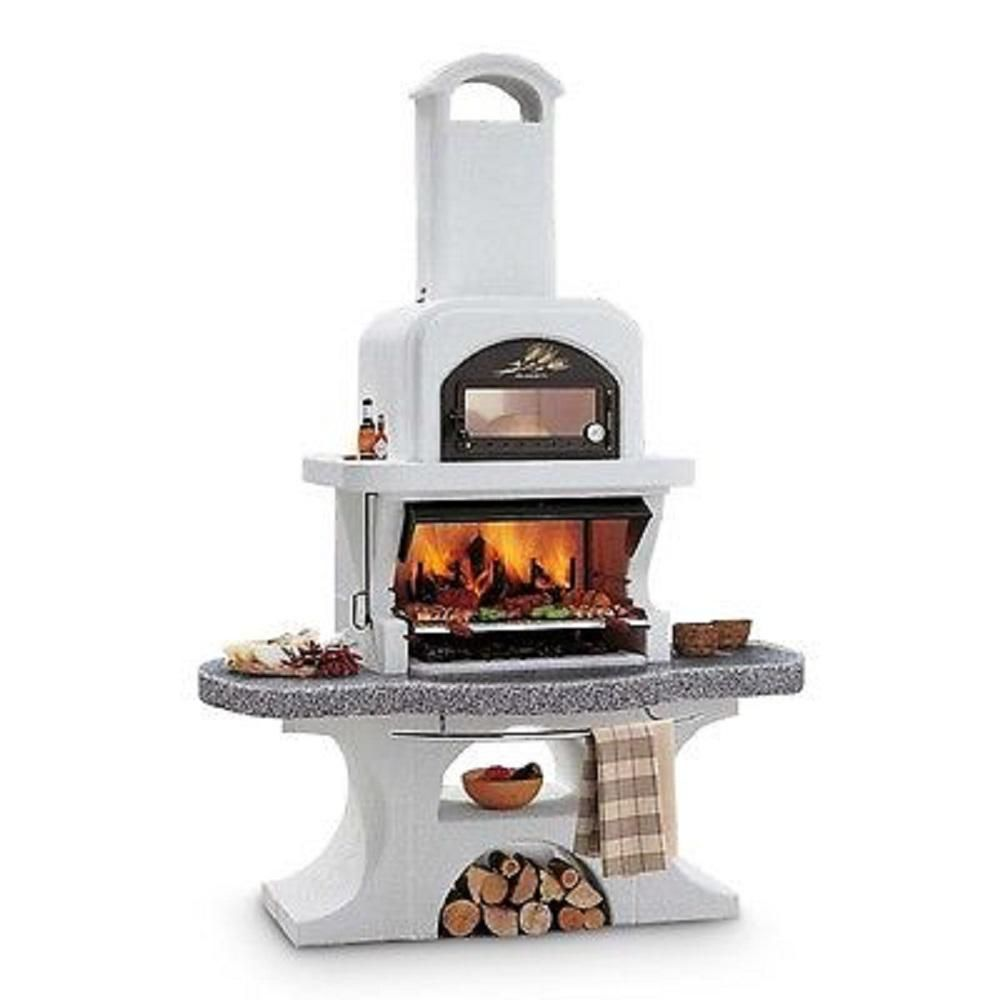 Latoscana Palazzetti Capri 2 Charcoal Or Wood Fire Outdoor Pedestal Grill In Gray Marmotech Capri 2 The Home Depot In 2020 Outdoor Stove Outdoor Fireplace Pizza Oven Outdoor Oven