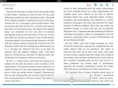 Google Books e-kirjojen lukuohjelma, iPad tablet
