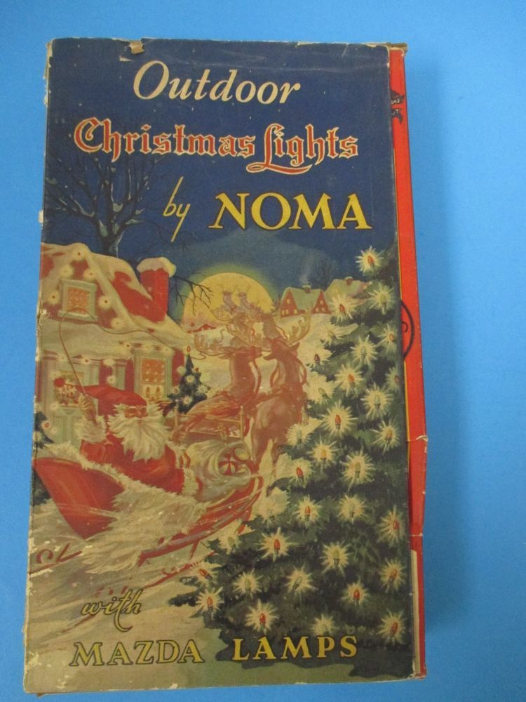 Vintage outdoor christmas lights by noma mazda lamps original box vintage outdoor christmas lights by noma mazda lamps original box aloadofball Image collections