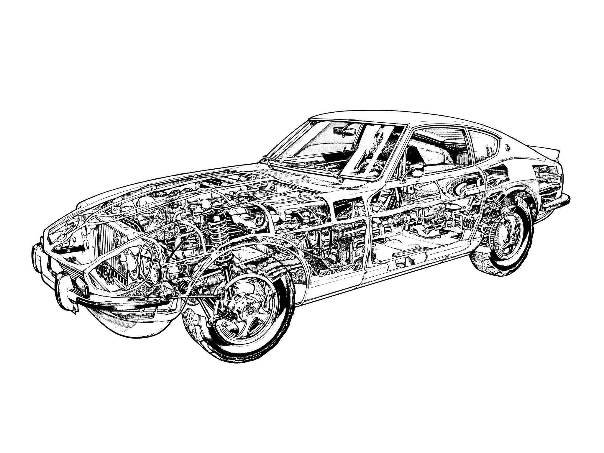 nissan fairlady z 1969 online coloring page