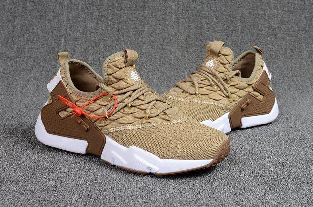 size 40 de604 8f604 New 2018 NIke Air Huarache Drift PRM Flyknit Men s Running Sports Shoes  Khaki   White