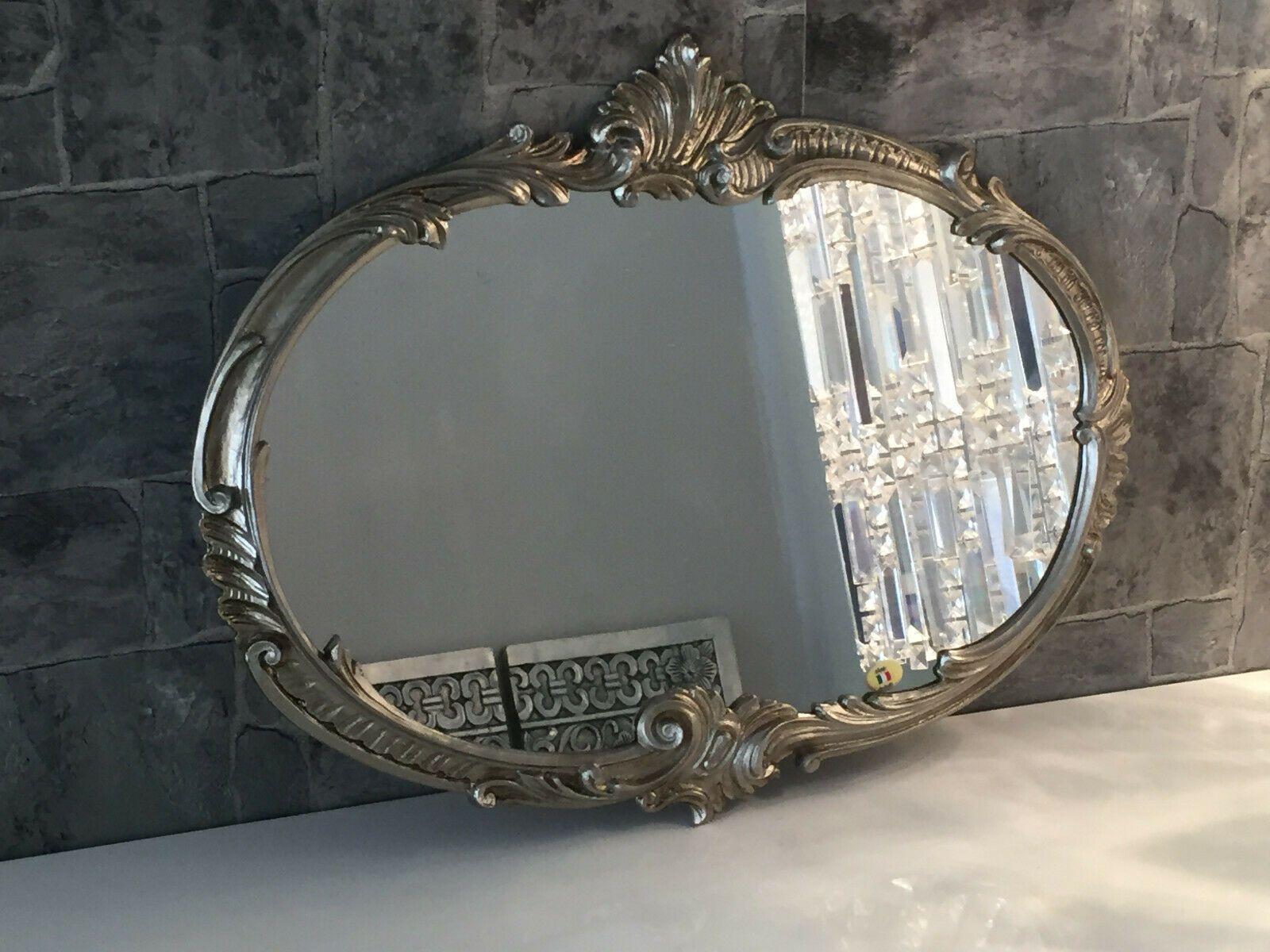 Wandspiegel Barock Oval Antik Silber 52x42 Badspiegel Vintage Ovaler Spiegel Wohnwelten Shop De In 2020 Badspiegel Ovaler Spiegel Barock Spiegel