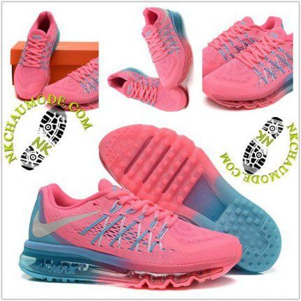 sale retailer ddaa2 bc085 Mode  Nike Chaussure Sport Air Max 2015 Femme RoseBleu
