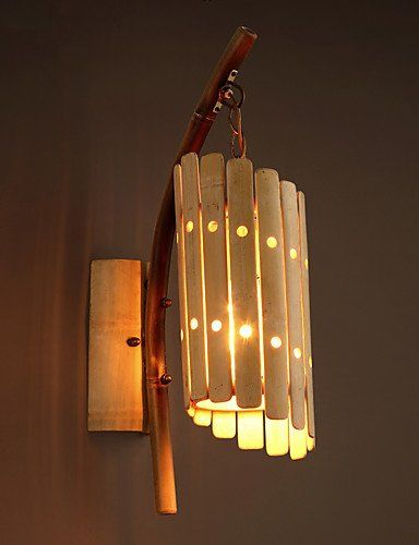 Qiuxi Simple Fashion Wall Lamp Rural Style Traditional Craft Bamboo