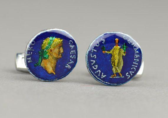 Rome Nero Denarius  Cufflinks. $85.00, via Etsy.