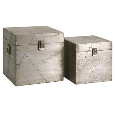 Metal storage boxes are pretty accessories mixed in on a shelf. | $83