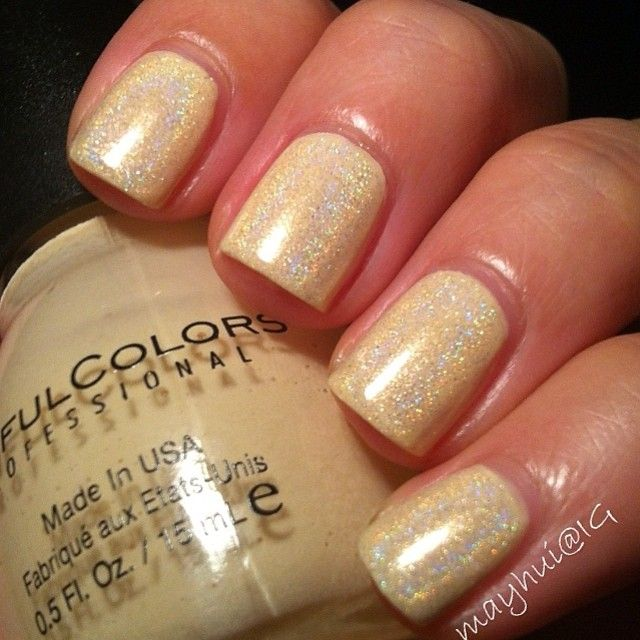 Pastel #yellow #holographic #nails Instagram photo by @May Allen Hui ...
