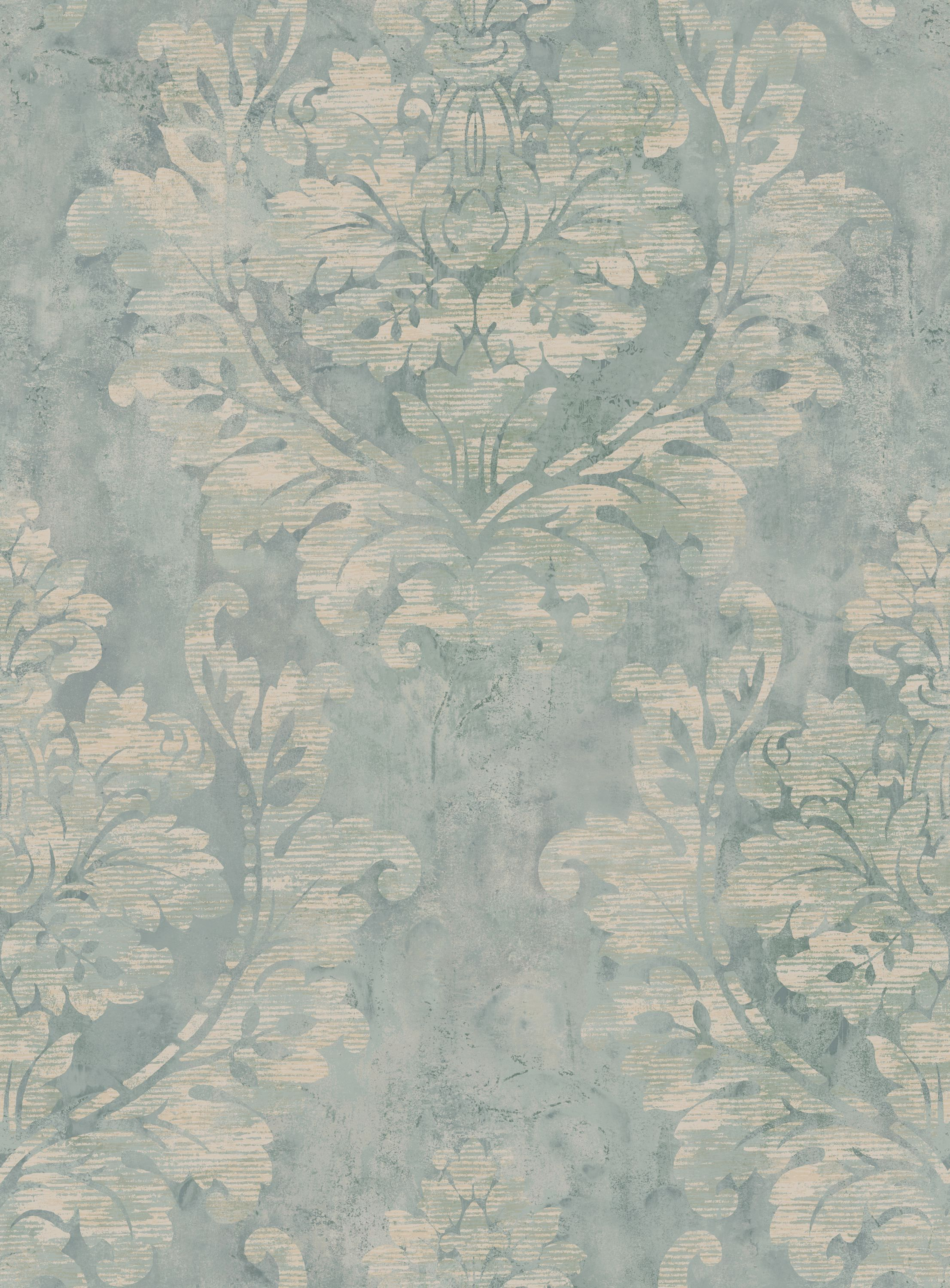 Diane S Damask Faux Paint Effect Wallpaper Fax 38908 Faux Effects