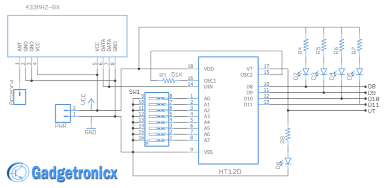 Making A 4 Channel Rf Remote Pcb Design Included Gadgetronicx Pcb Design Remote 4 Channel