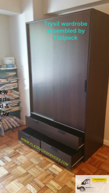 Ikea Trysil Wardrobe W Sliding Doors 4 Drawers Art