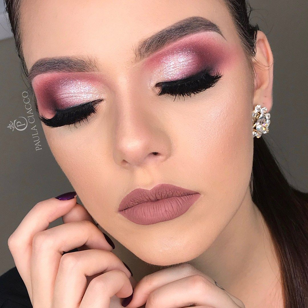 Rose purple makeup