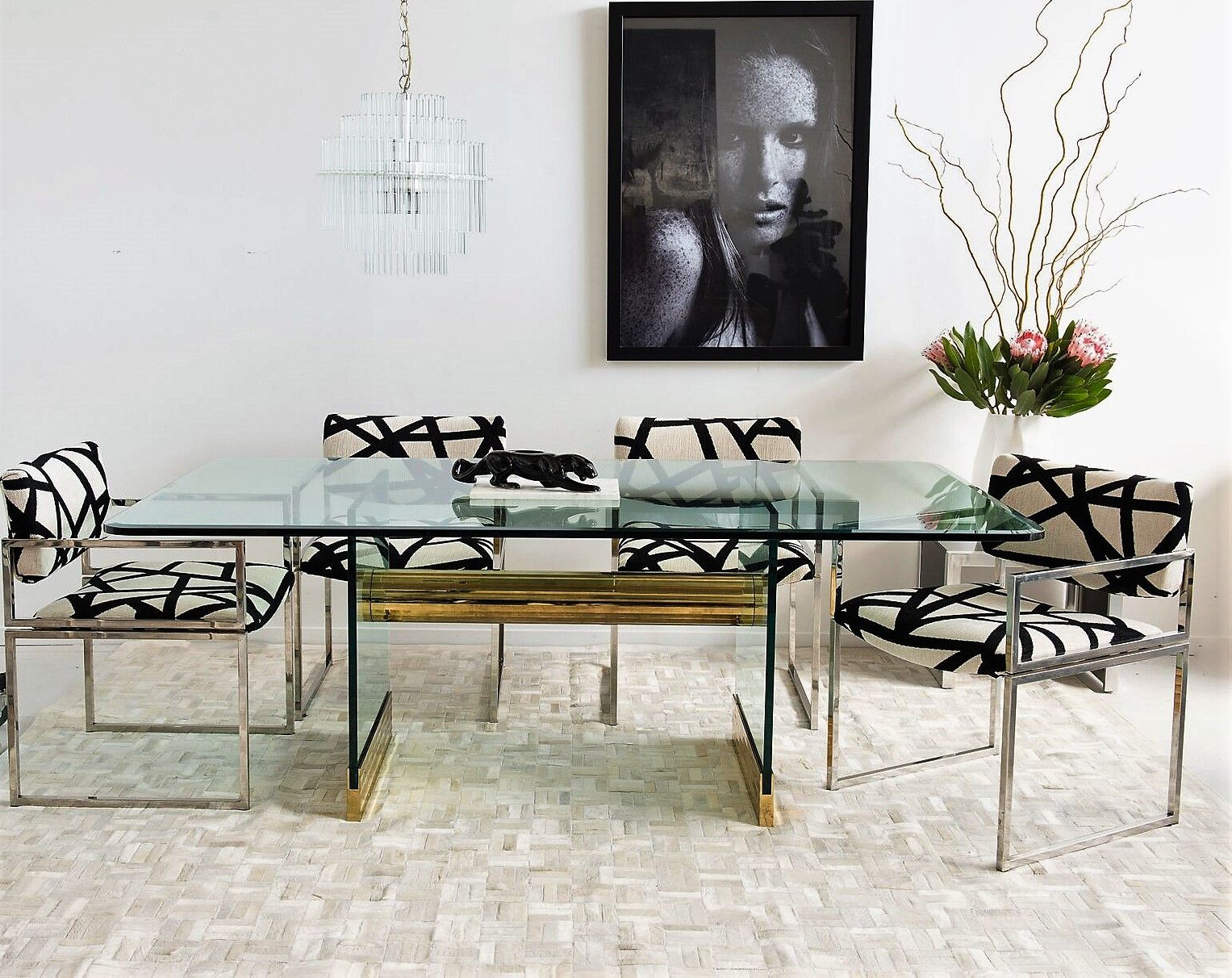 Leon Rosen For Pace Collection Gl Dining Table From Mid Century Swag