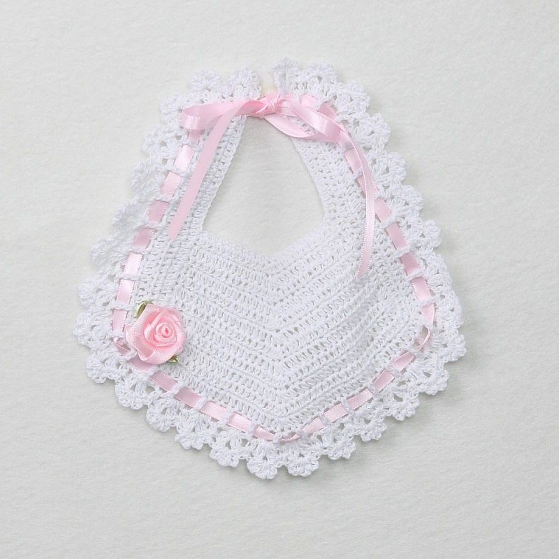Crochet Baby Christening Bib | yusimi | Pinterest | Bebé, Bebe y Tejido