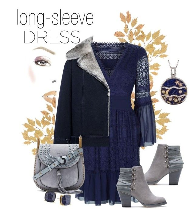 """""""long-sleeve dress 🍂"""" by sseptik ❤ liked on Polyvore featuring Temperley London, WYS, Carven, Chloé and Kate Spade"""