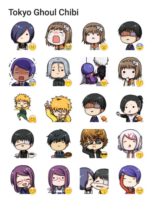 Resultado de imagen para stickers tokyo ghoul