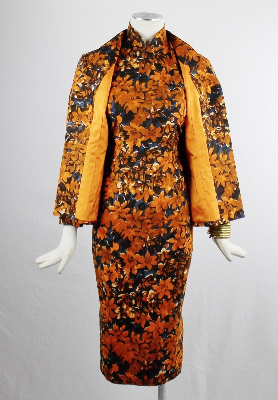 Jahrgang Cheongsam Kleid und passende ausgerüstet von Douvintage