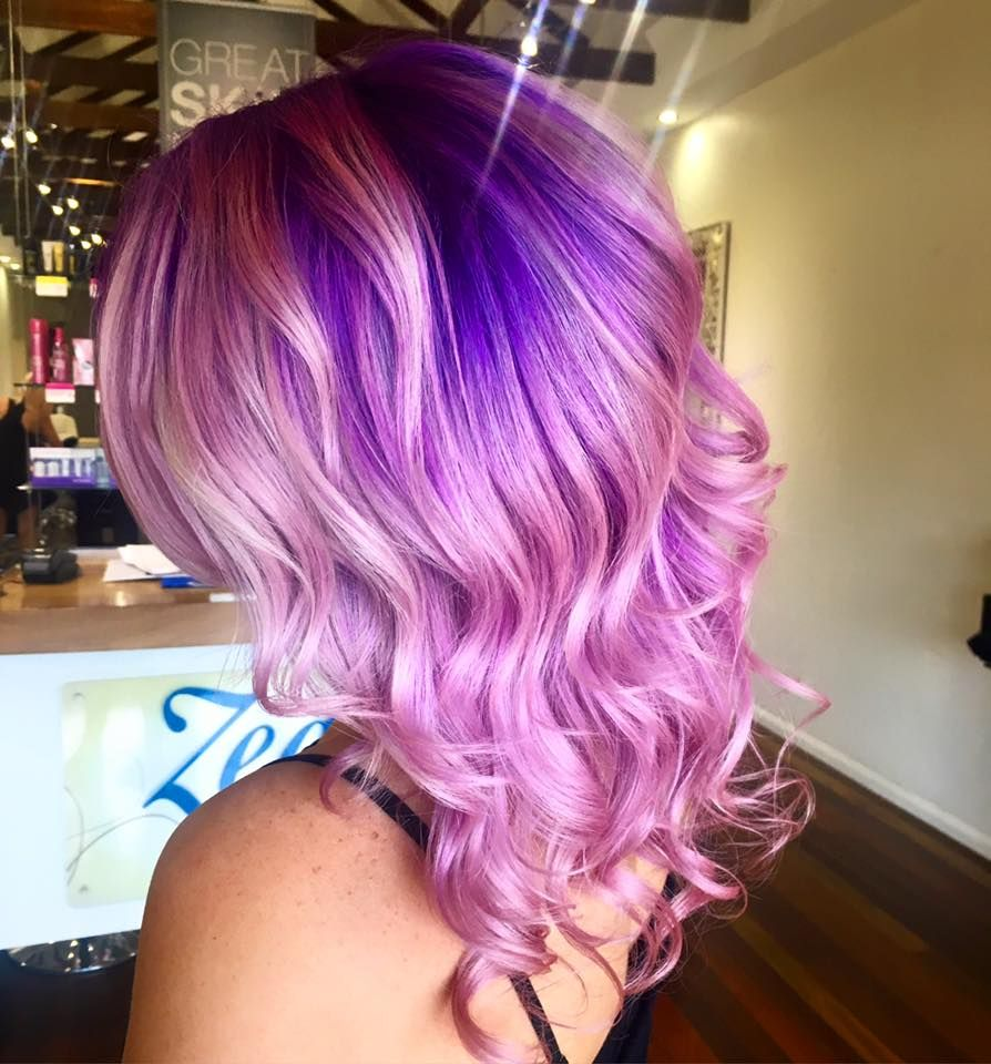 Pink Hair With Purple Roots Colormelt Hair Pinterest Pink Hair