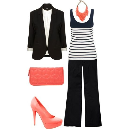 Work Outfit Fashion Pinterest Work Outfits Coral