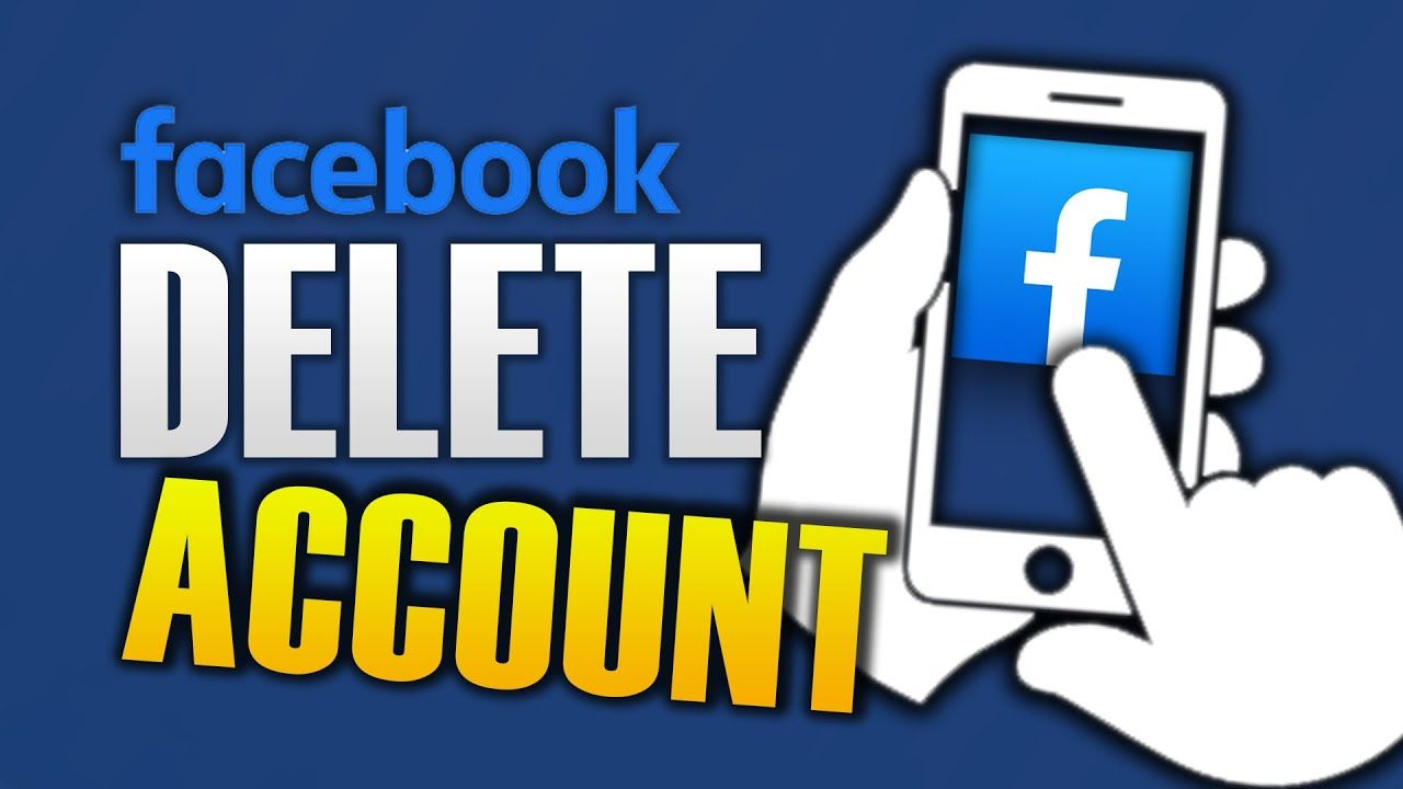 How to delete facebook account on mobile in 2020 delete