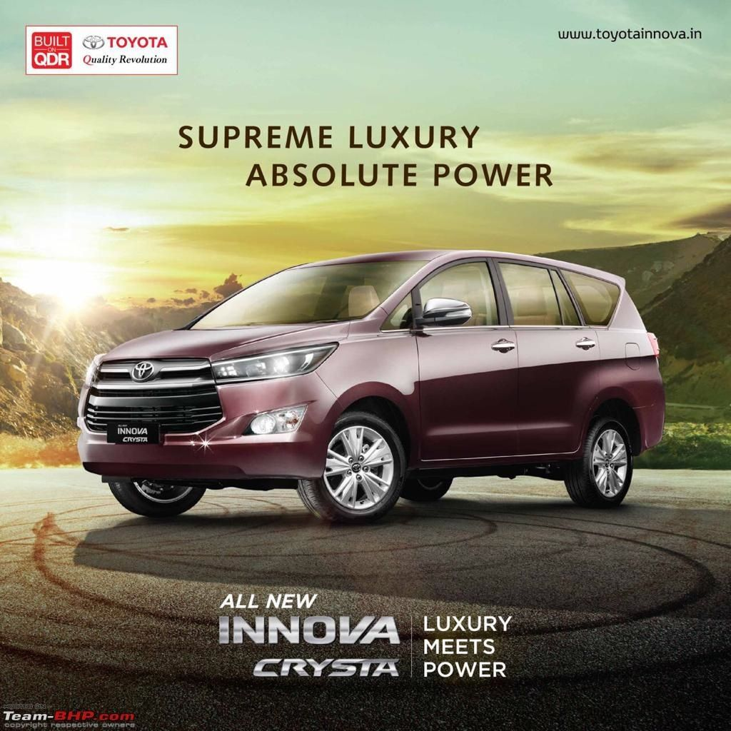 toyota #innova #crysta's intro brochure reveals feature list