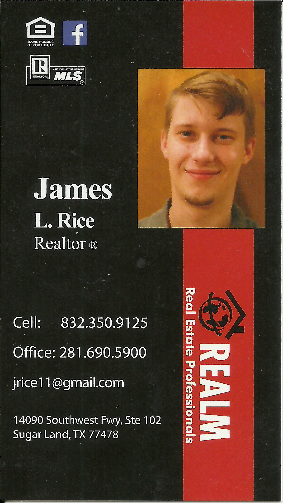 james rice realtor business card example graphic design