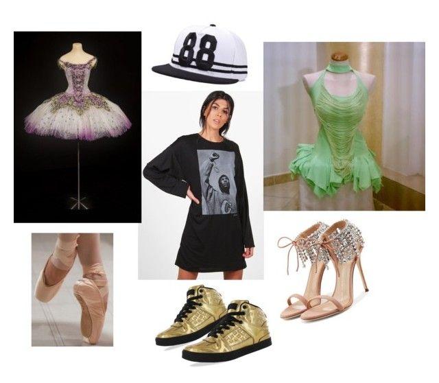 """Ballerina di danza classica,hip hop e latino."" by manuelalauria ❤ liked on Polyvore featuring Boohoo, Gotta Flurt and Giuseppe Zanotti"