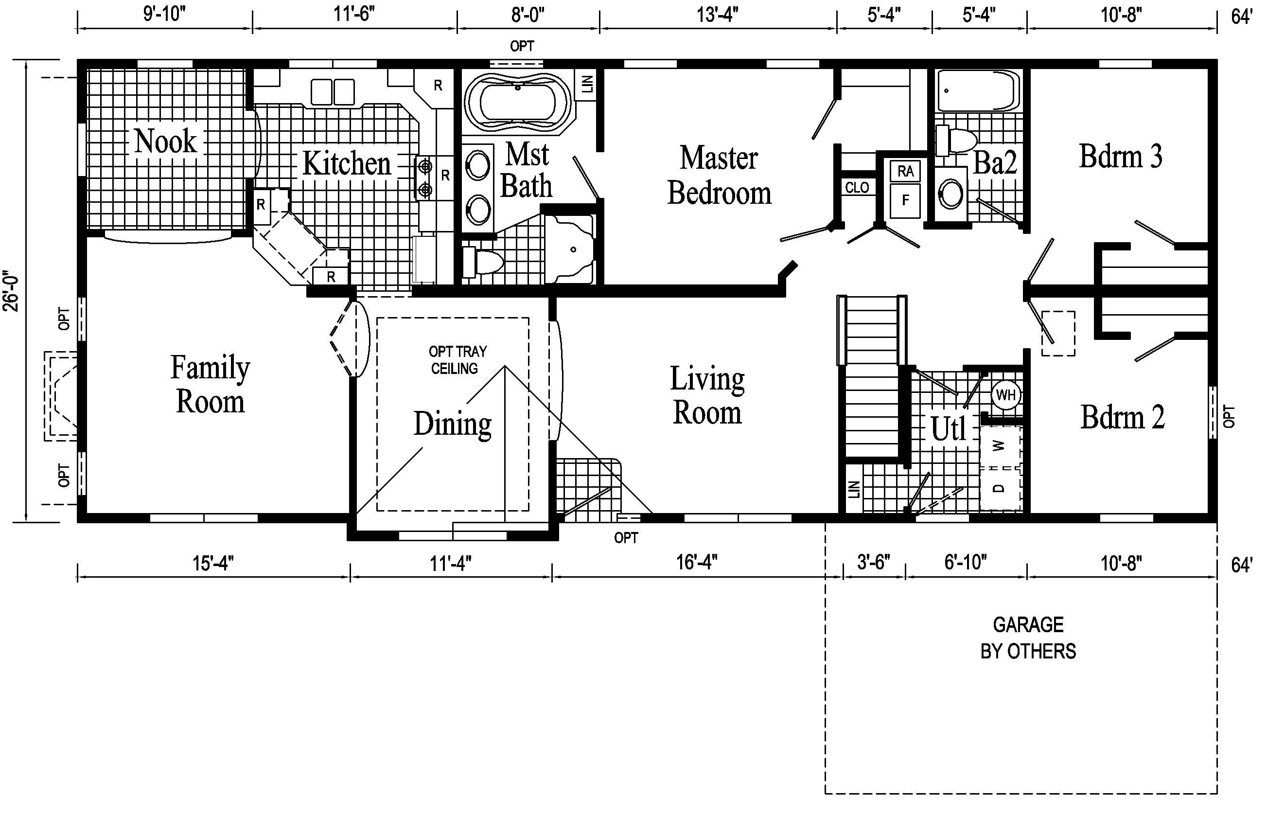 24 foot ranch House Plans | Dover Ranch Style Modular Home ...